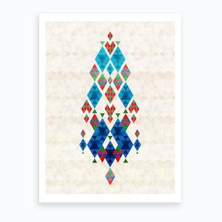 Bohemian Kilim Dreamcatcher Art Print