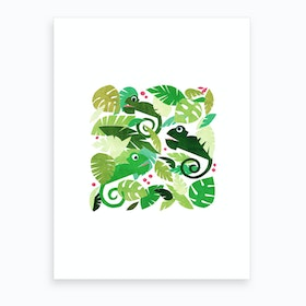 Kids Room Chameleons Art Print