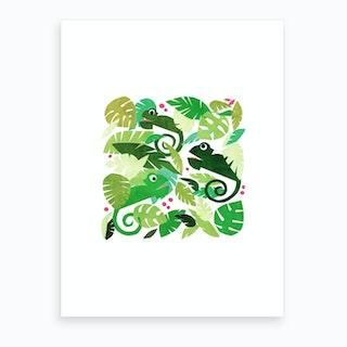 Kids Room Chameleons Art Print