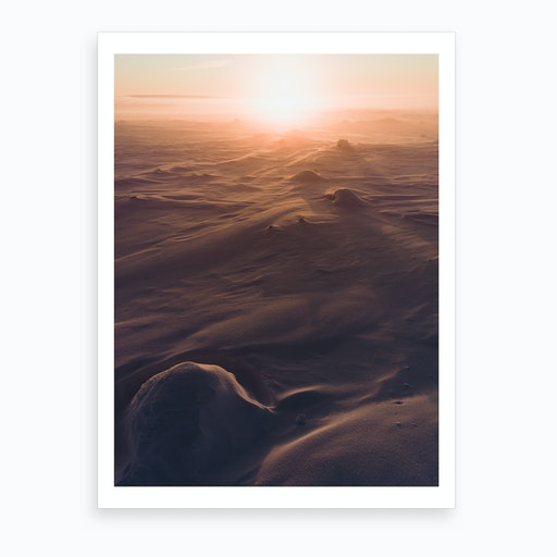 Sunset In Tundra Art Print