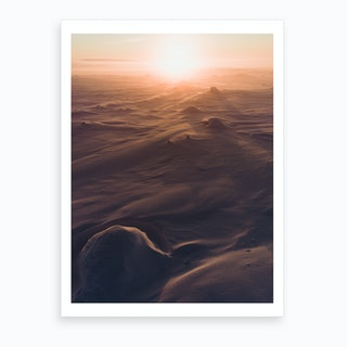 Sunset In Tundra Art Print