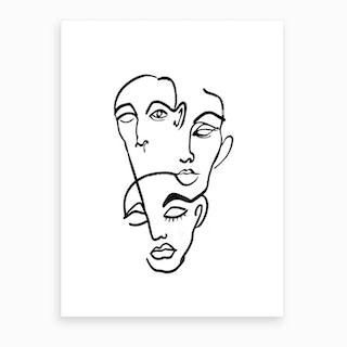 Faces Twelve Art Print