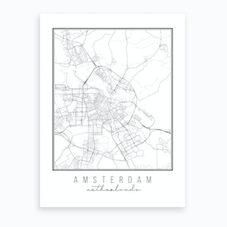 Amsterdam Netherlands Street Map Art Print