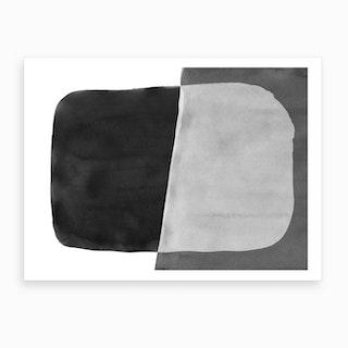 Minimal Black And White Abstract 06 Art Print