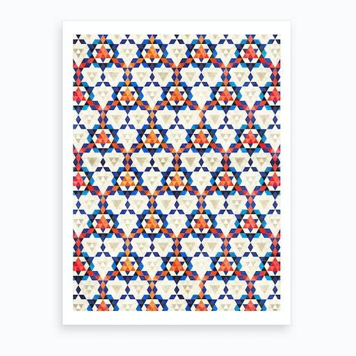 Bohemian Moroccan Pattern Art Print