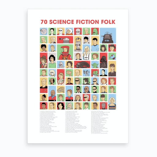 Science Fiction Folk Art Print