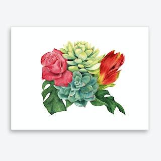 Amaryllis Bouquet Art Print
