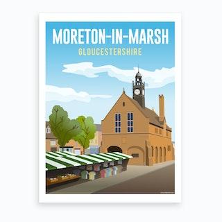 Moreton In Marsh Art Print