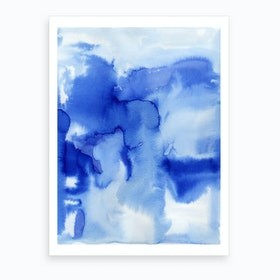 Blue Art Print