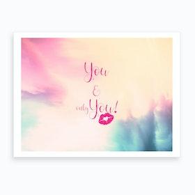 You & You {}   Horizontal Art Print
