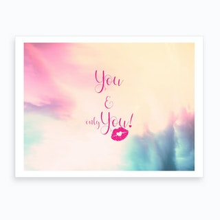 You & You {}   Horizontal Art Print