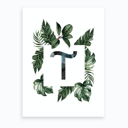 Botanical Alphabet T Art Print