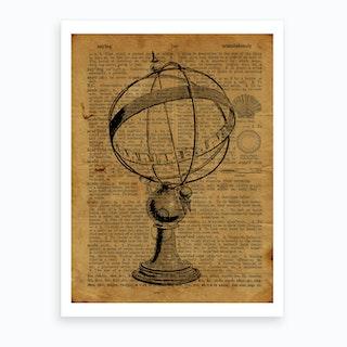 Sphere Sundial Art Print