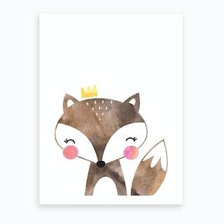 Brown Fox Art Print
