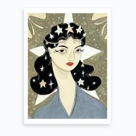 Starry Woman  Art Print