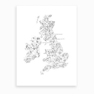 Uk And Ireland Walking Map Print Art Print
