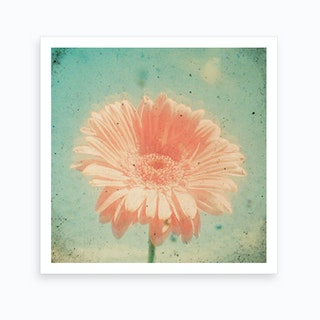 Vintage Pink Flower Art Print