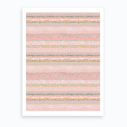 Little Textured Dots Pink Art Print