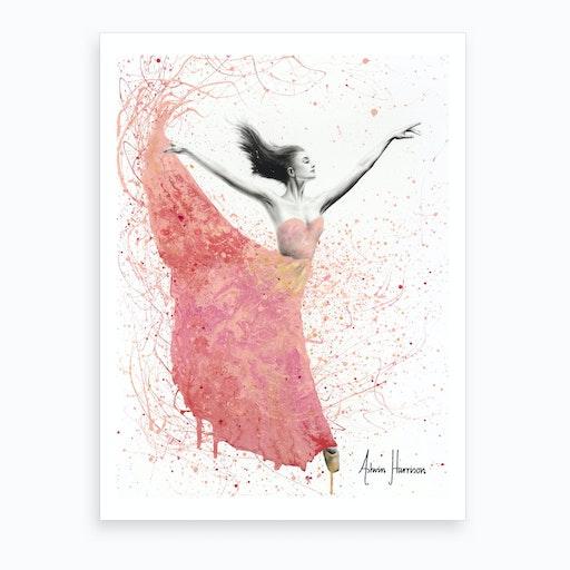 Rose Petal Dance  Art Print