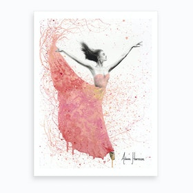 Rose Petal Dance  Art Print