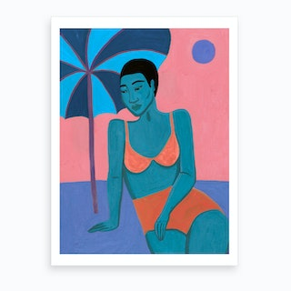 What If We Were All Shades Of Blue Art Print