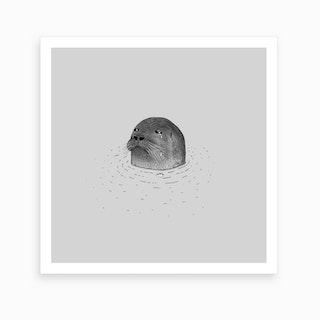 Sad Seal Art Print