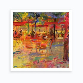 Lunch On The Terrace Art Print