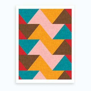 Kilim Chevron Art Print