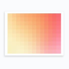 Lumen 03, Pink and Orange Gradient Art Print