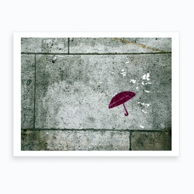 Wall Umbrella Art Print