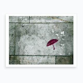 Wall Umbrella Art Print