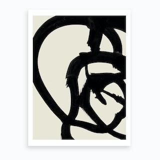 Mono Brush 2 Art Print