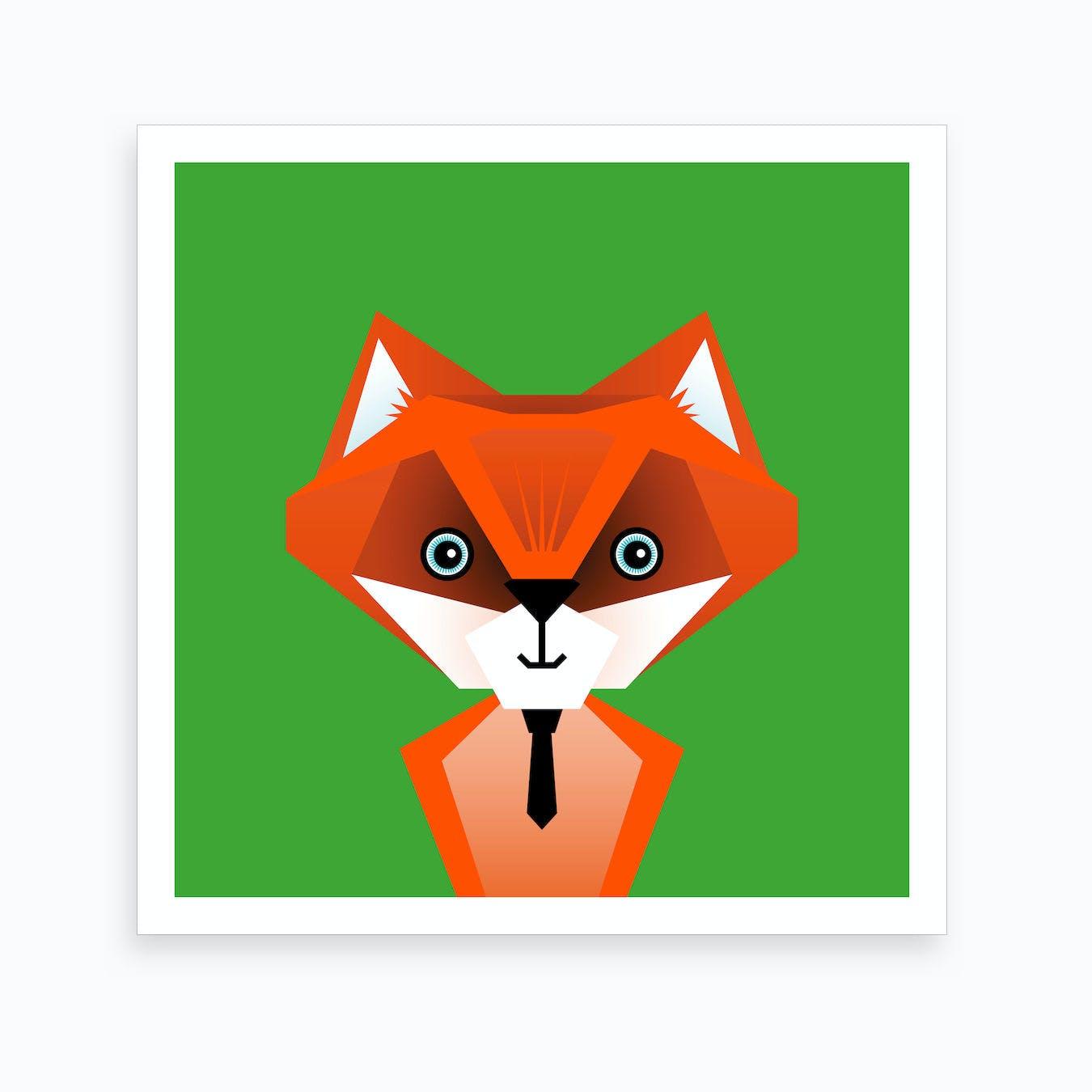 Kids Room Fox Art Print