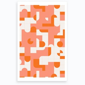 Wrong Puzzle Tiles Art Print