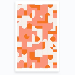 Wrong Puzzle Tiles Art Print