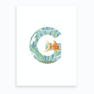 G Is For Goldfish  Art Print