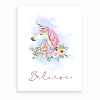 Believe Unicorn Art Print