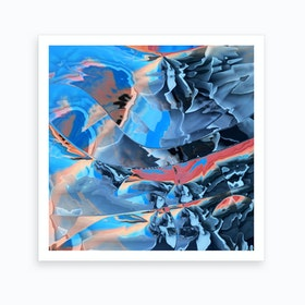 The Edge Of Blue Mystery Art Print