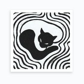 Black&White Cat 2 Art Print