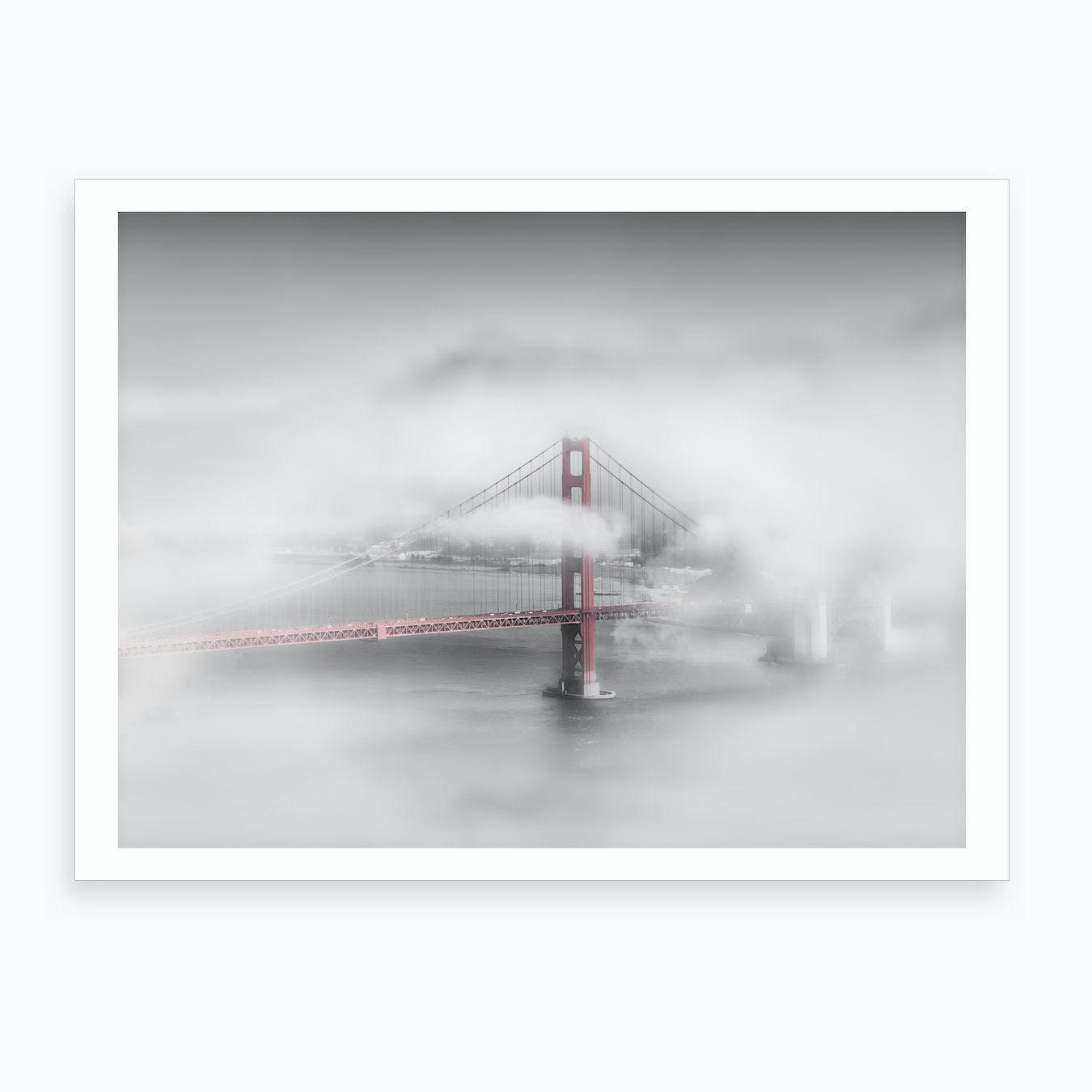 Foggy Golden Gate Bridge Art Print