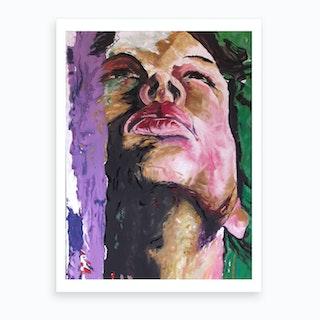 Woman'S Face Art Print
