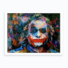 The Joker Pop Art Art Print