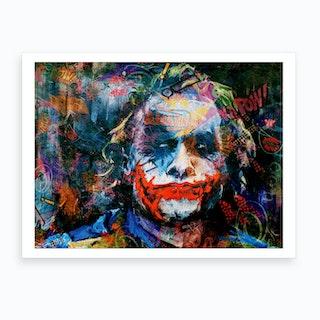 The Joker Pop Art Art Print