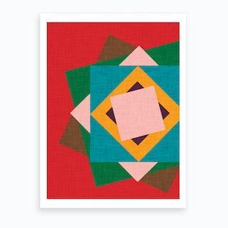 Kilim Flower Art Print