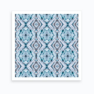 Boho Shibori Blue Art Print