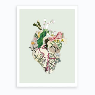 Vintage Botanical Heart Art Print