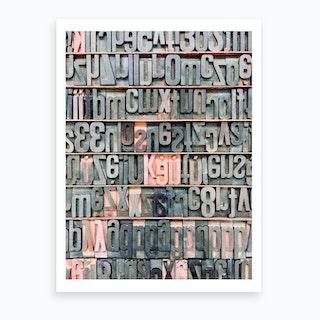 Type Wood Bodies Art Print