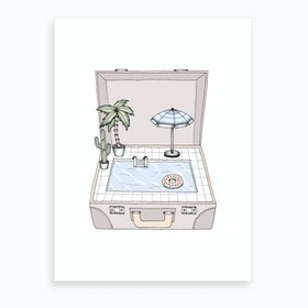 Pool To Go Art Print