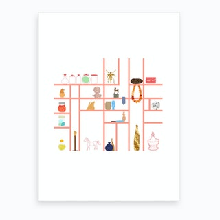 Magic Bookshelf Art Print