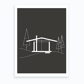 Ridge Cabin Black 7 Art Print